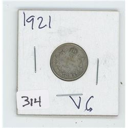 1921VG CANADIAN 10 CENT