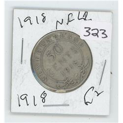 1918G NFLD CANADIAN 50 CENT