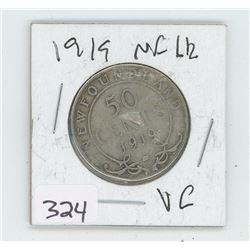 1919VG NFLD CANADIAN 50 CENT