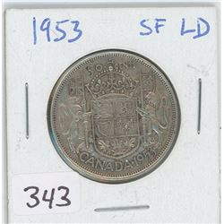 1953SF-LD CANADIAN 50 CENT