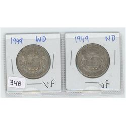 1949WD, 1949ND CANADIAN 50 CENTS