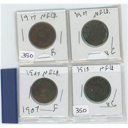 1907F-NFLD, 1913VG-NFLD, 1917F-NFLD 1917VG-NFLD CANADIAN 50 CENTS