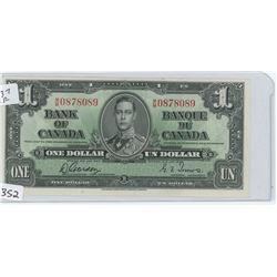 1937EF BANK OF CANADA $1.00 BILL