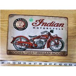 TIN SIGN 'INDIAN MOTORCYCLE'