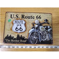 TIN SIGN 'US ROUTE 66'