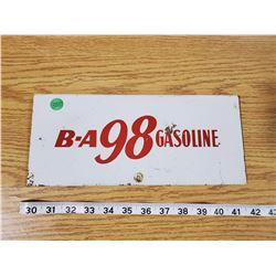 B/A 98 GASOLINE SIGN (METAL)