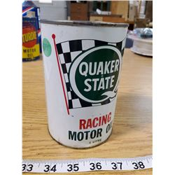 QUAKER STATE RACING MOTOR OIL TIN (FULL)