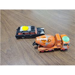 TWO TOY CARS (ONE DINKY FIAT, ONE MATCHBOX MIXER)