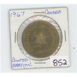 1967 CONFEDERATION BRONZE COIN