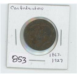 1867-1967 CONFEDERATION COPPER COIN