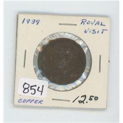 1939 ROYAL VISIT COPPER COIN
