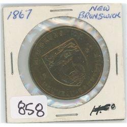1867 NEW BRUNSWICK TOKEN
