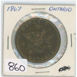 1867 ONTARIO TOKEN