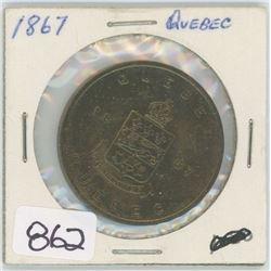 1867 QUEBEC TOKEN