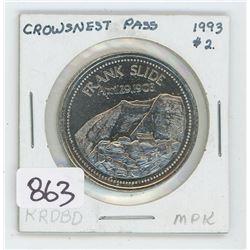 1993 CROWS NEST PESS TOKEN