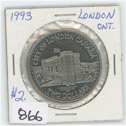 1993 LONDON, ONTARIO TOKEN