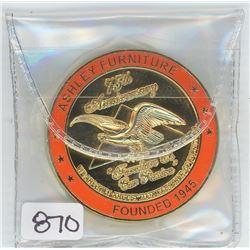 1945-2020 ASHLEY FURNITURE 75TH ANNIVERSARY CHALLENGE COIN