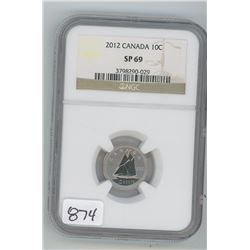 2012 NGC SP-69 CANADIAN TEN CENT COIN