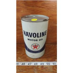 HAVOLINE MOTOR OIL TIN