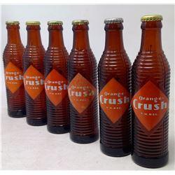 6 Orange Crush Glass Bottles (vintage)