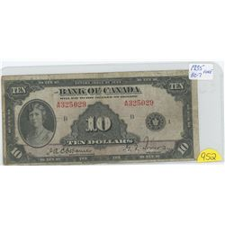 1935 Princess Mary 10 Dollar Note