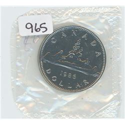 1986 PROOF LIKE CANADIAN DOLLAR