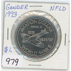 1993 NFLD GANDER AVIATION DOLLAR (SERIESxii)