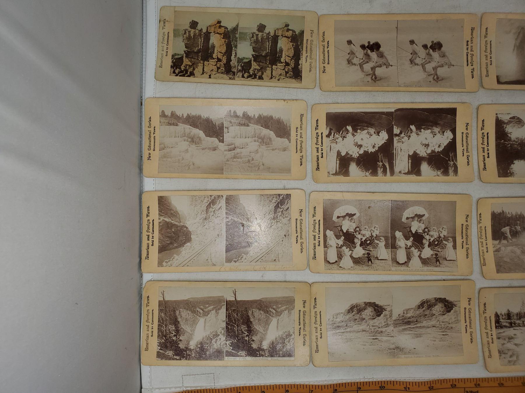 STEREOSCOPE CARDS (EDUCATING) 16 VIEWS