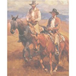 20AC-5 PRINT OF TWO COWBOYS