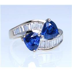 20CAI-16 BLUE SAPPHIRE & DIAMOND RING