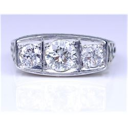20CAI-20 ART DECO DIAMOND RING
