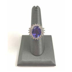 20RPS-15 TANZANITE & DIAMOND RING