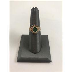 20RPS-37 EMERALD & DIAMOND RING