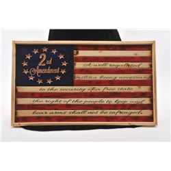 DONATION- WOODEN FLAG