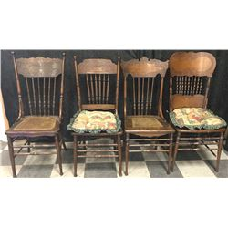 20TMO-146 LOT OF 4 DINING CHAIRS