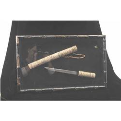 20BP-3 SCRIMSHAWED KNIFE & SHEATH