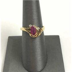 20RPS-14 RUBY & DIAMOND RING