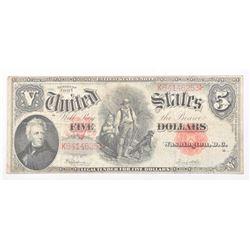 20CE-22 SERIES 1907 U.S. $5 DOLLAR NOTE