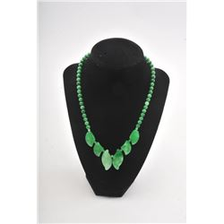 20RPS-23 GREEN JADE NECKLACE