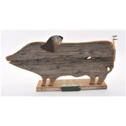 20TMO-209 OLD BOAR WOOD CARVED SIGN