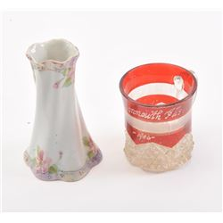 20CG-2 BUD VASE & CUT GLASS CUP