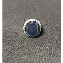 19RM-9 DEEP BLUE STAR SAPPHIRE RING