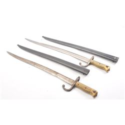 20DX-398 TWO FRENCH SWORD BAYONETS