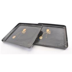 20DX-511 PAIR OF JAPANESE LACQUER TRAYS