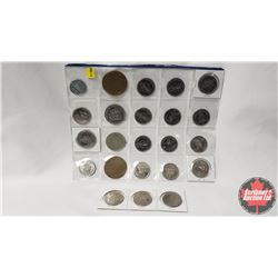 TOKENS (23) ~ Sheet of 20 & Strip of 3: Edmonton 1978 (6) ; Klondike Days 1982; Ft McMurray Chamber;