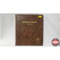 Canada Two Dollars Uni-Safe Book with 27 Coins : 1996; 1997; 1998; 1999; 2000; 2000W; 2001; 2002; 20