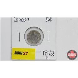Canada Five Cent : 1872H