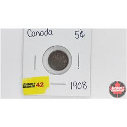 Canada Five Cent : 1908