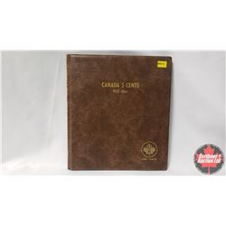 Canada Five Cents Uni-Safe Book with 85 Coins : 1937Dot; 1939; 1940; 1941; 1942Tom; 1943Tom; 1944; 1