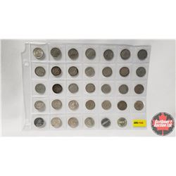 Canada Ten Cen - Sheet of 34: 1937-1947; 1947ML; 1948-1952; 1953(2); 1954-1966; 1967(2)